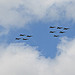20 F/18-F's fly past Milton on a Display run