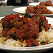 Baharat Meatballs and Lentil Rice