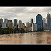 Brisbane riverfront in flood