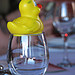 Duckie on a Wine Glass