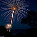 Fireworks over Lake Wivenhoe
