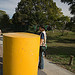 Greg and the Giant Yellow Bollard