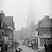 Lichfield Cathedral in the fog