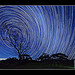 Startrails on a moonless night