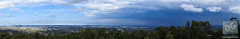 Today's storm from Mt Coot-tha by David de Groot